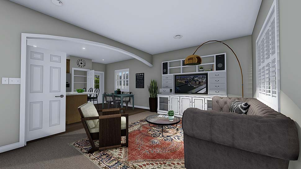 Traditional House Plan 50527 with 4 Beds, 3 Baths, 2 Car Garage Picture 3