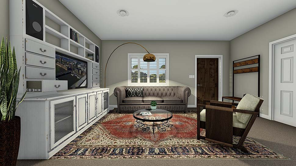 Traditional House Plan 50527 with 4 Beds, 3 Baths, 2 Car Garage Picture 4