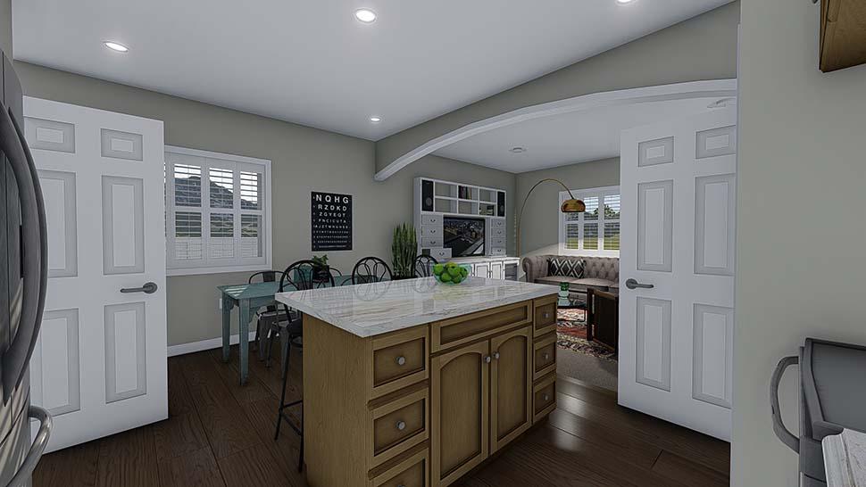 Traditional House Plan 50527 with 4 Beds, 3 Baths, 2 Car Garage Picture 6