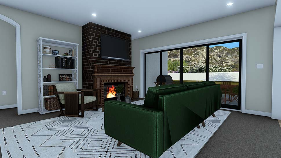 Ranch, Traditional House Plan 50529 with 4 Beds, 3 Baths, 2 Car Garage Picture 9