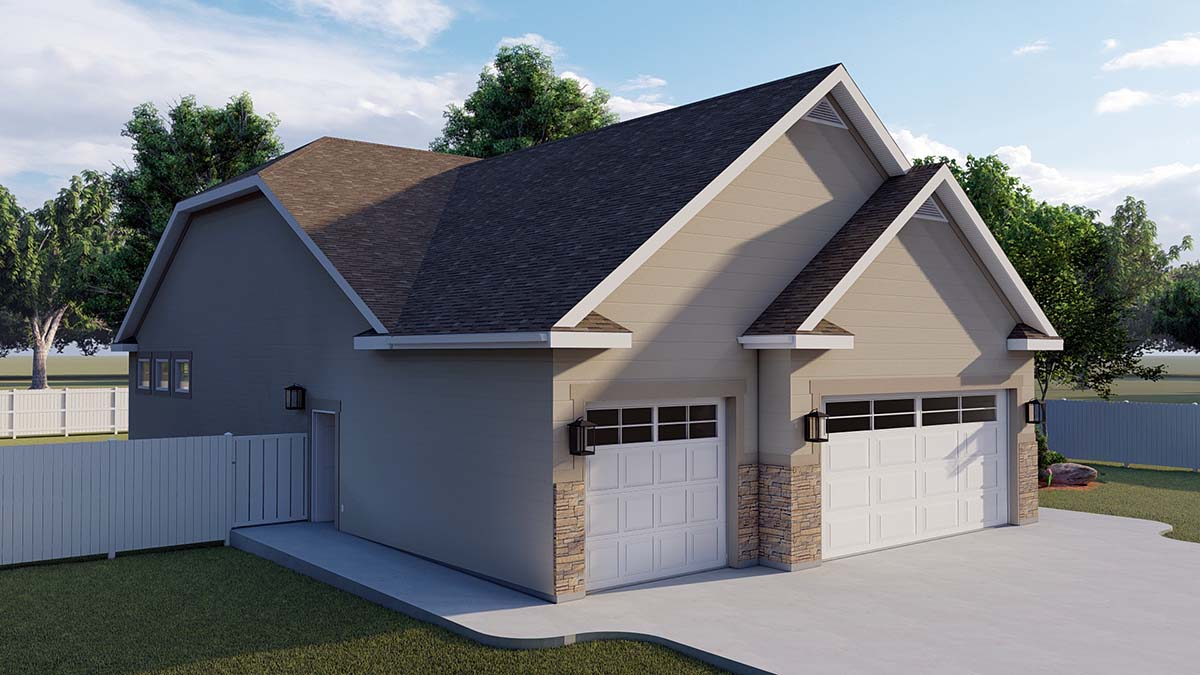 Traditional House Plan 50530 with 6 Beds, 4 Baths, 3 Car Garage Picture 2