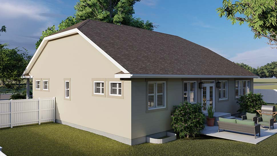 Traditional House Plan 50530 with 6 Beds, 4 Baths, 3 Car Garage Picture 4