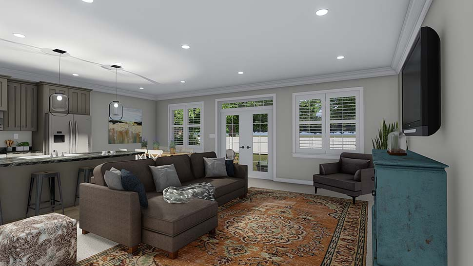 Traditional House Plan 50530 with 6 Beds, 4 Baths, 3 Car Garage Picture 9