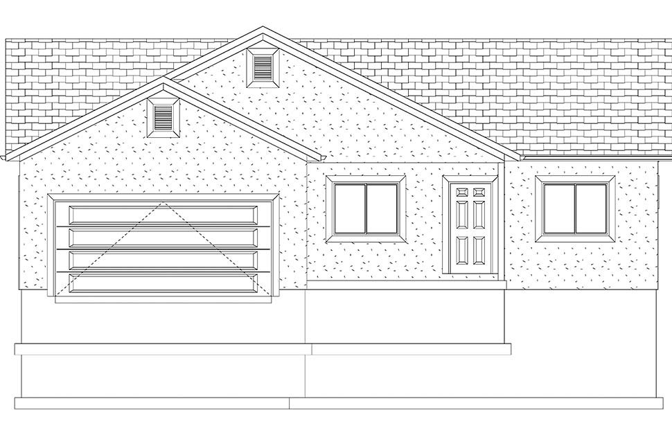 Ranch, Traditional House Plan 50534 with 5 Beds, 3 Baths, 2 Car Garage Picture 18