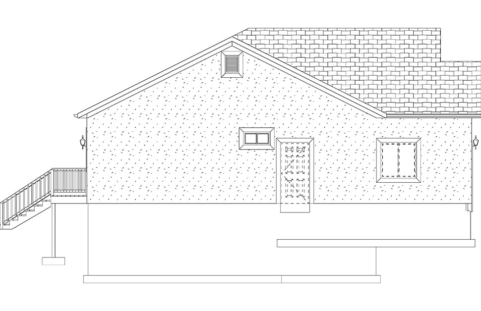 Ranch, Traditional House Plan 50534 with 5 Beds, 3 Baths, 2 Car Garage Picture 19