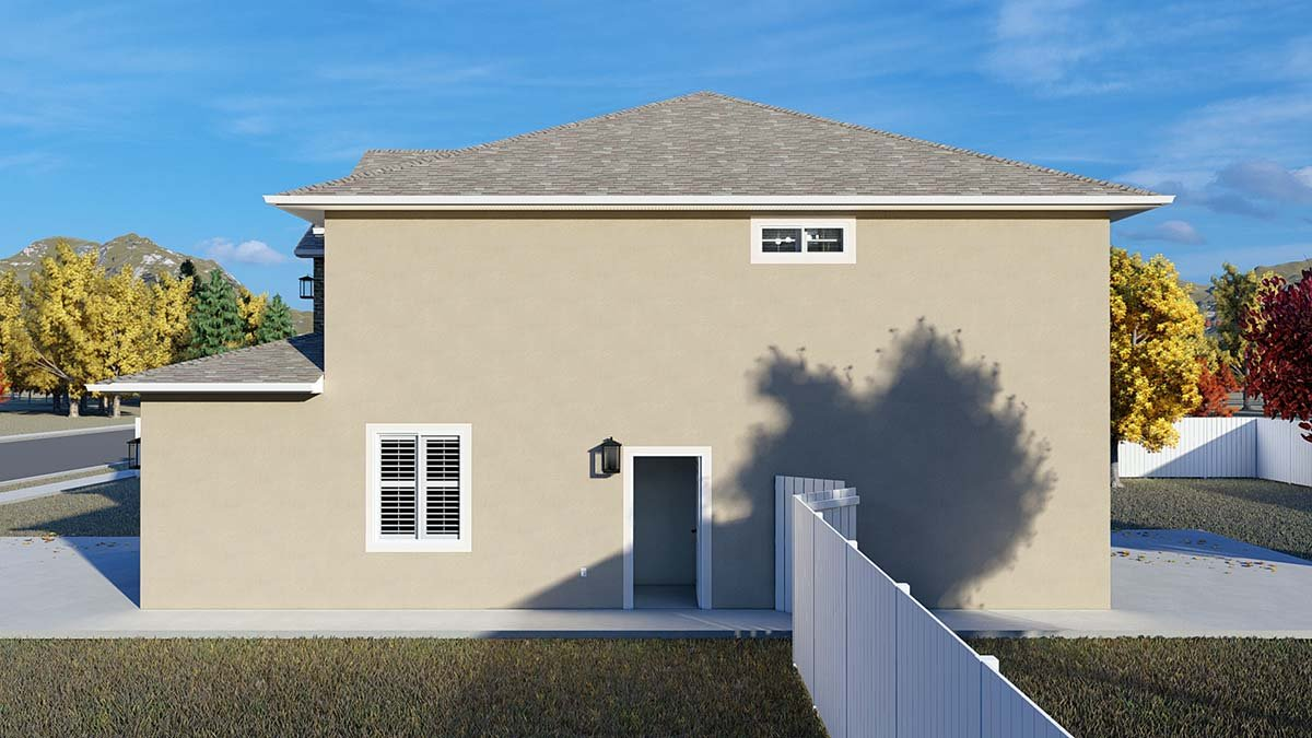 Traditional House Plan 50535 with 4 Beds, 2 Baths, 2 Car Garage Picture 1
