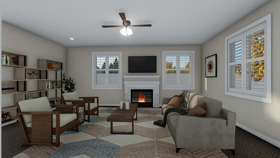 Traditional House Plan 50535 with 4 Beds, 2 Baths, 2 Car Garage Picture 9