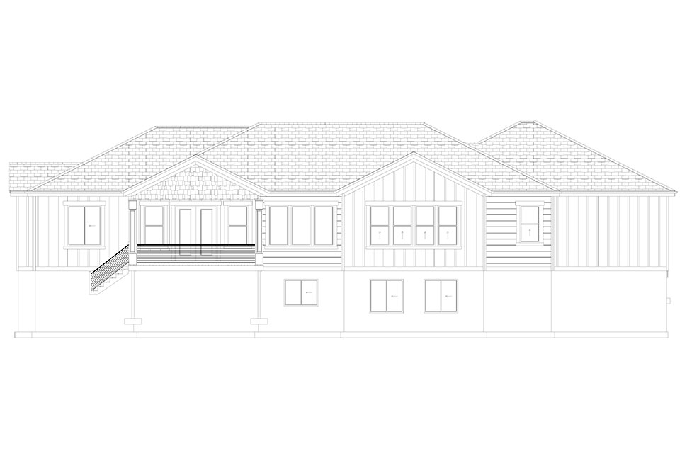 Craftsman, Ranch, Traditional House Plan 50536 with 6 Beds, 5 Baths, 3 Car Garage Picture 35