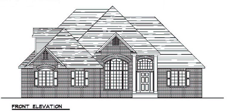 Colonial Cottage Country Craftsman European Ranch Traditional House Plan 50600 Elevation