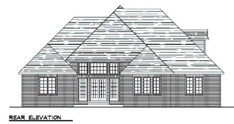 Colonial Cottage Country Craftsman European Ranch Traditional House Plan 50600 Rear Elevation