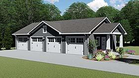 Garage Plan 50608 Elevation