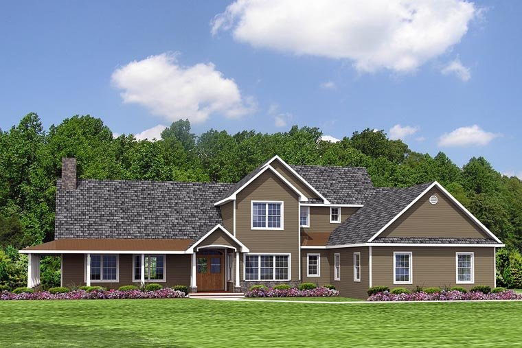 Colonial, Cottage, Country, Craftsman, Farmhouse, Ranch, Southern, Traditional House Plan 50609 with 4 Beds, 3 Baths, 2 Car Garage Picture 1