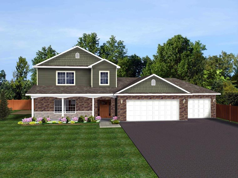 Colonial, Cottage, Country, Craftsman, Ranch, Traditional House Plan 50612 with 3 Beds, 3 Baths, 3 Car Garage Picture 1