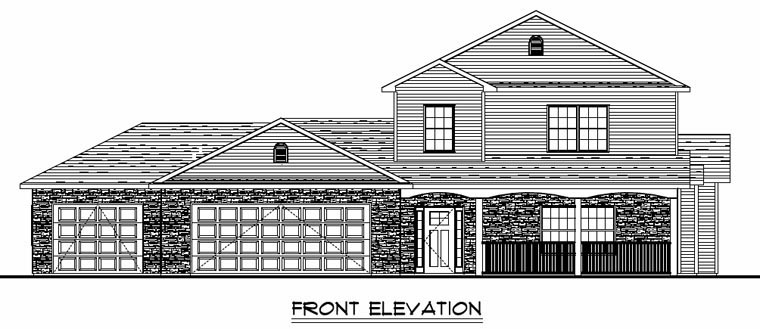 Colonial, Cottage, Country, Craftsman, Ranch, Traditional House Plan 50612 with 3 Beds, 3 Baths, 3 Car Garage Picture 3