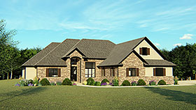 Country , Craftsman , European , Ranch , Traditional House Plan 50613 with 5 Beds, 5 Baths, 2 Car Garage Elevation
