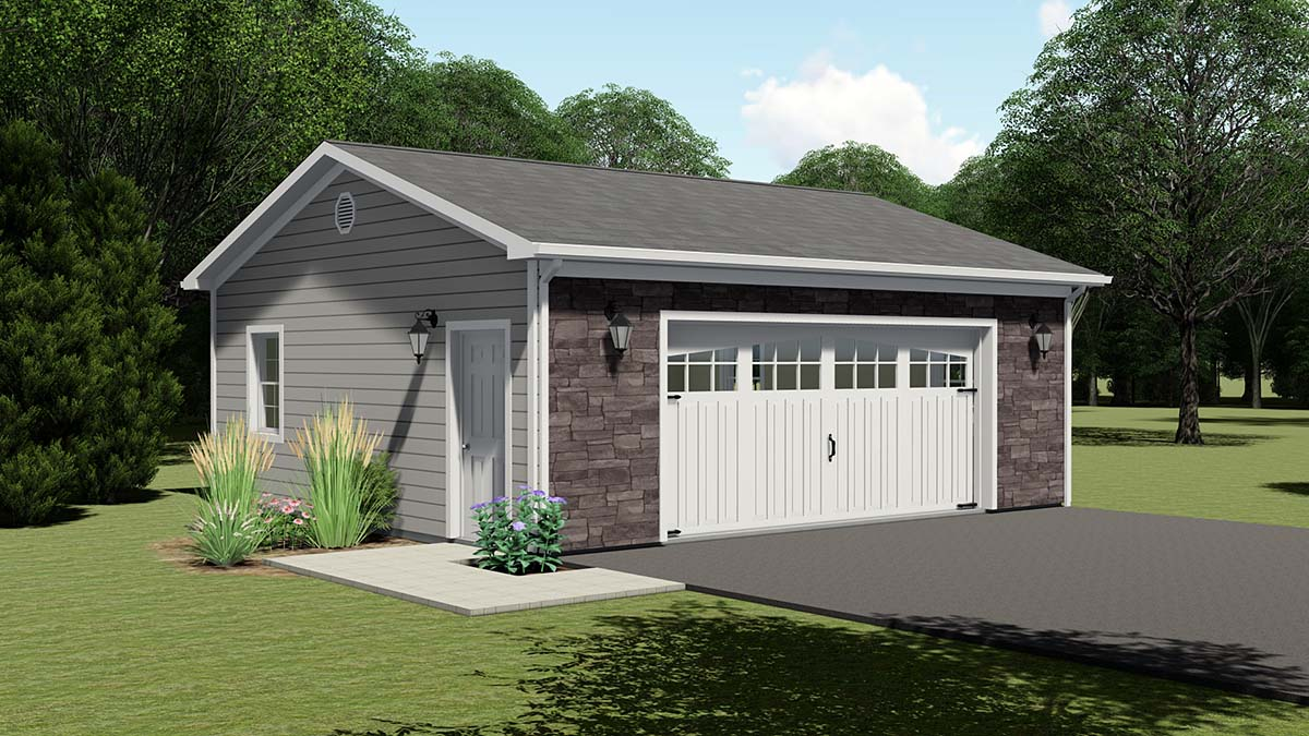 2 Car Garage Plan 50616 Elevation