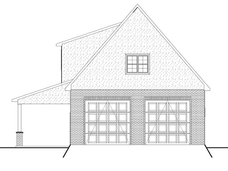 Garage Plan 50617 Rear Elevation