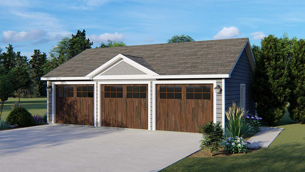 Garage Plan 50622 Elevation