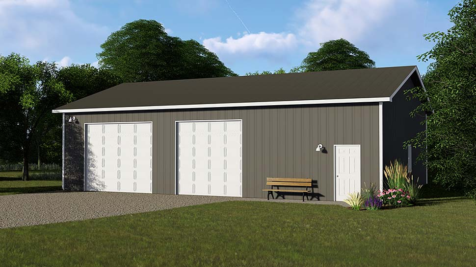 Garage Plan 50624 Elevation
