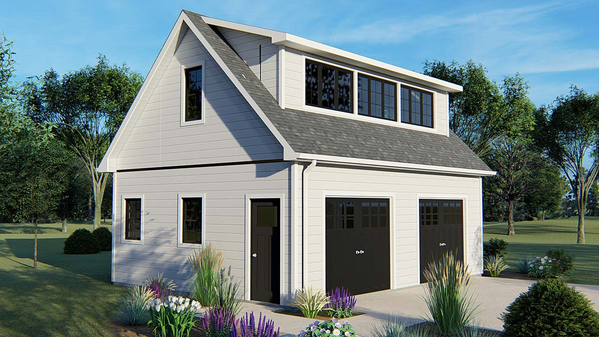 2 Car Garage Plan 50626 Front Elevation