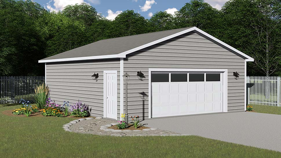 2 Car Garage Plan 50628 Elevation