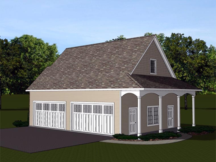 Garage Plan 50629 Rear Elevation