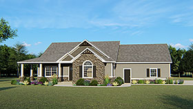 Country Craftsman House Plan 50634 Elevation