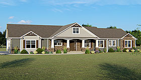 Country , Craftsman , Ranch House Plan 50637 with 3 Beds, 3 Baths, 3 Car Garage Elevation