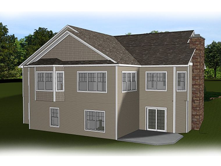 Country , Craftsman , Ranch House Plan 50638 with 3 Beds, 3 Baths, 2 Car Garage Rear Elevation