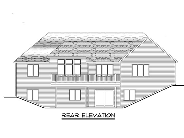 Craftsman Ranch Traditional House Plan 50641 Rear Elevation
