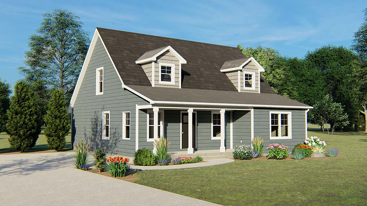 Cape Cod, Country House Plan 50644 with 3 Beds, 3 Baths Elevation