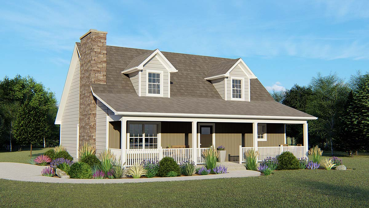 House Plan 50645 | Cape Cod Country Style Plan with 3077 Sq Ft, 3 Bedrooms, 3 Bathrooms Elevation