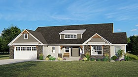 Country Traditional House Plan 50653 Elevation