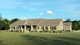 Ranch , Country , Cottage House Plan 50656 with 4 Beds, 5 Baths, 3 Car Garage Elevation
