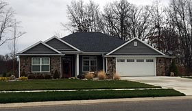 House Plan 50657 | Ranch Traditional Style Plan with 2025 Sq Ft, 3 Bedrooms, 2 Bathrooms, 2 Car Garage Elevation