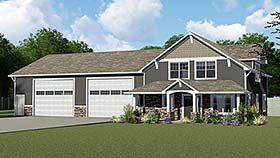 Cottage Country Craftsman Garage Plan 50661 Elevation