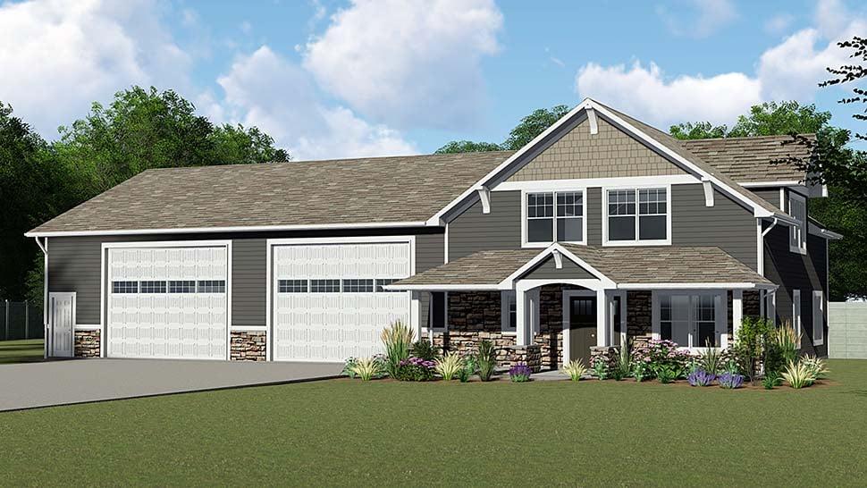 Cottage Country Craftsman Garage Plan 50661 Elevation