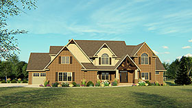 European Traditional House Plan 50667 Elevation