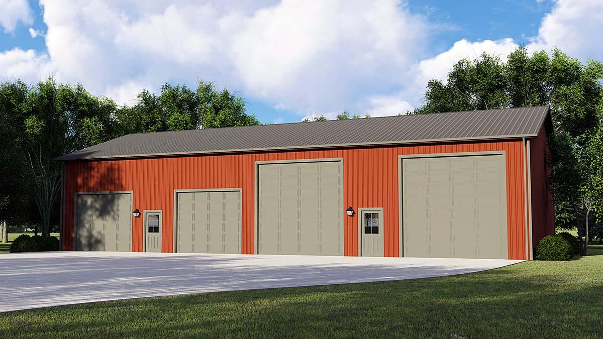 Garage Plan 50668 Elevation