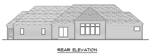 Country Craftsman Traditional House Plan 50671 Rear Elevation