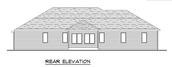 Ranch Traditional House Plan 50675 Rear Elevation
