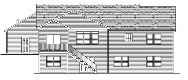 Craftsman Traditional Rear Elevation of Plan 50679