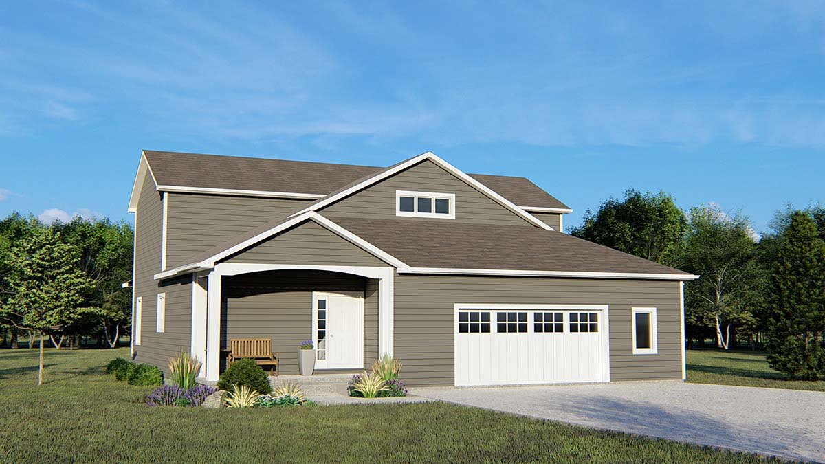 Country, Traditional House Plan 50680 with 4 Beds, 4 Baths, 2 Car Garage Elevation