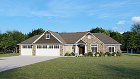 Ranch Traditional House Plan 50681 Elevation