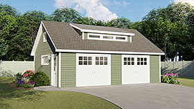 Garage Plan 50683 Elevation