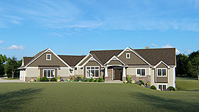 Craftsman , Traditional House Plan 50687 with 3 Beds, 6 Baths, 3 Car Garage Elevation