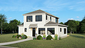 Traditional , Contemporary , Colonial House Plan 50688 with 2 Beds, 1 Baths Elevation