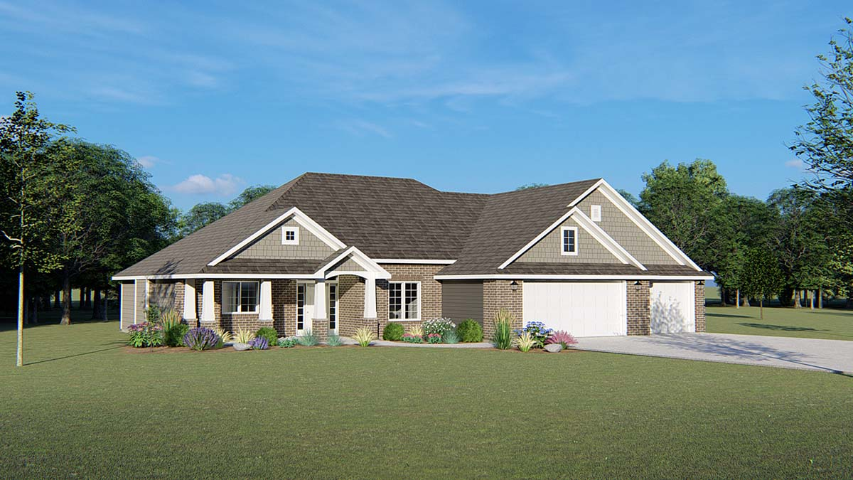 Ranch Traditional House Plan 50693 Elevation