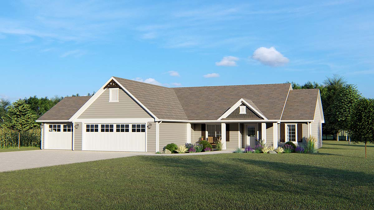 Ranch Traditional House Plan 50698 Elevation