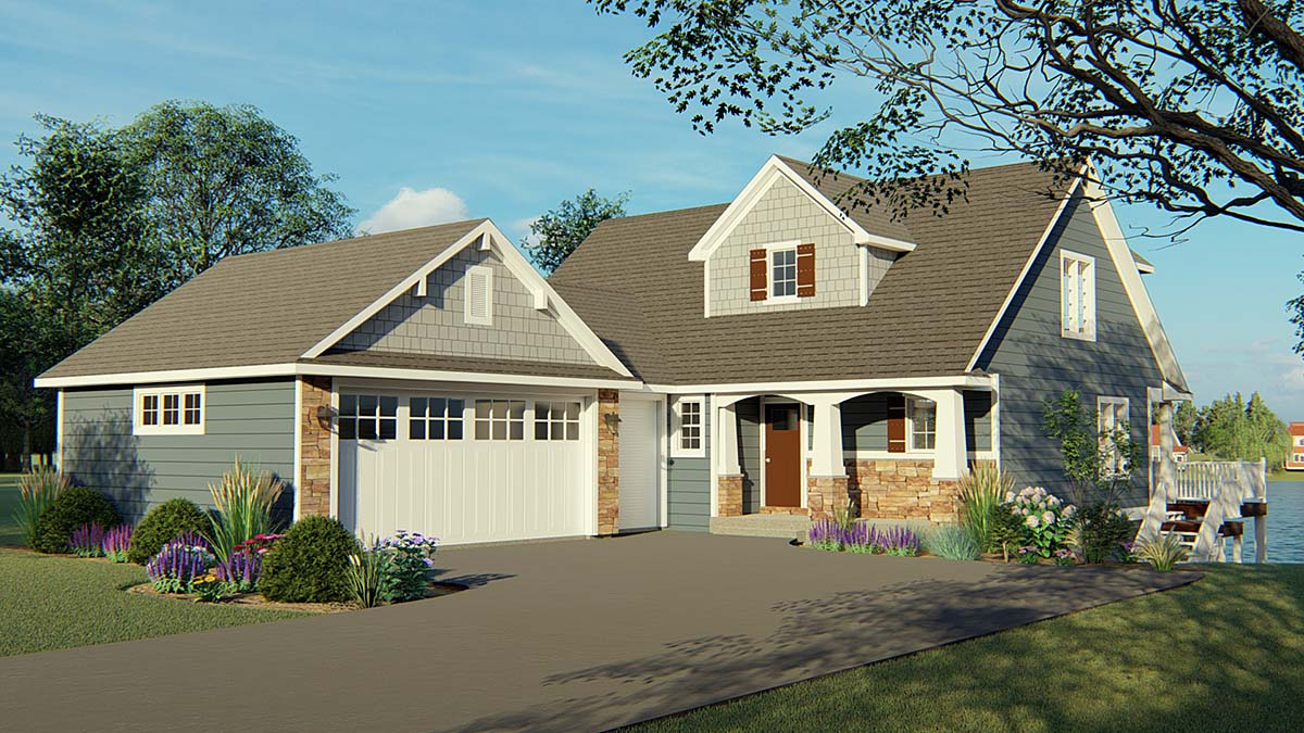 Bungalow Cottage Country Craftsman House Plan 50704 Elevation